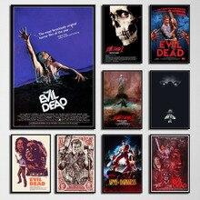 Film dhorreur classique The Evil Dead, peinture artistique sur toile, affiche sur toile, décoration murale, P720