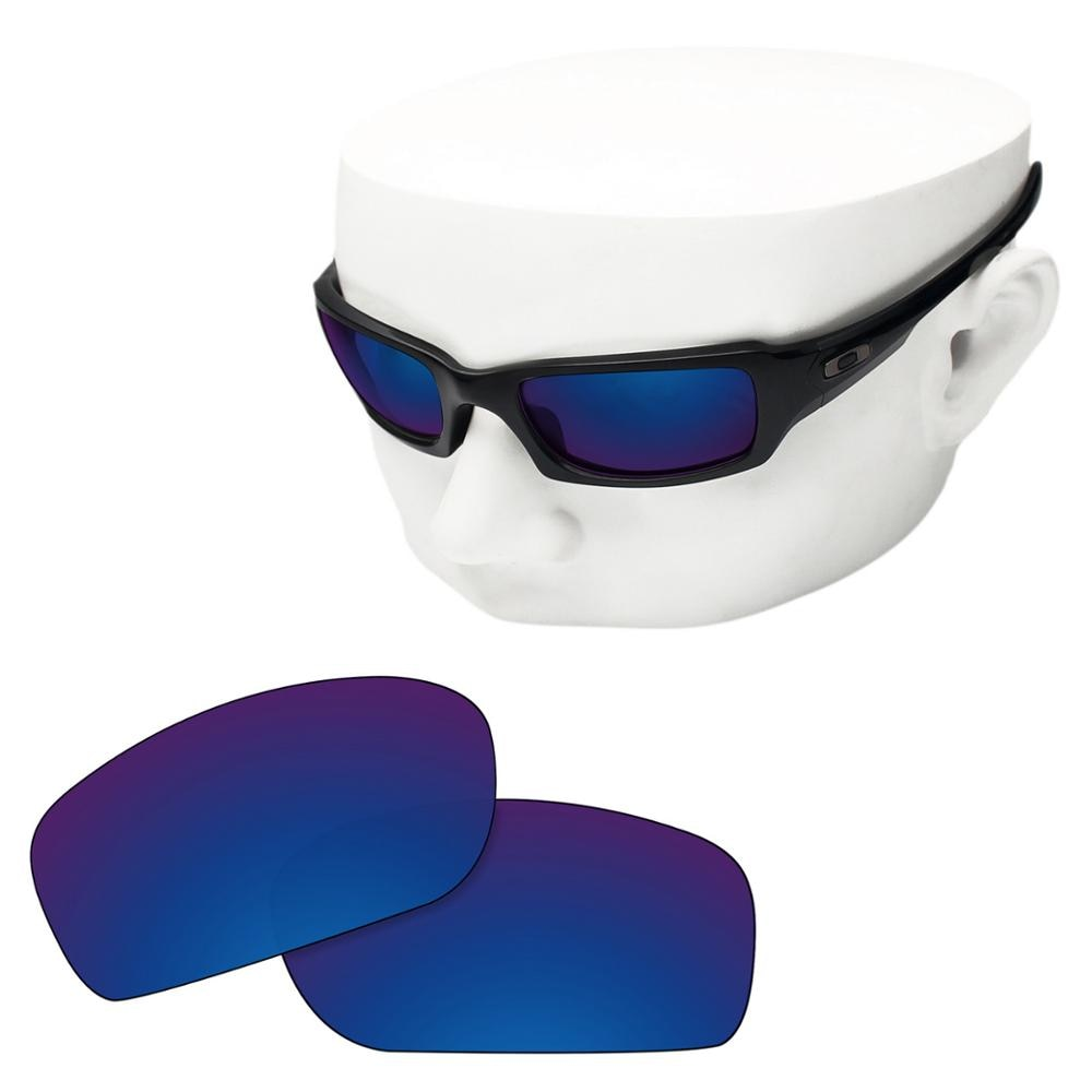 OOWLIT Polarized Replacement Lenses of Deep Water for-Oakley Fives Squared Sunglasses