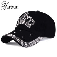 [YARBUU]Baseball caps 2016 new fashion style men and women's Sun hat rhinestone hat denim and cotton snapback cap Free shipping