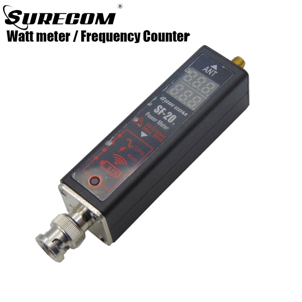 Surecom SF-20 Frequency Meter Power Watt Counter Antenna analyzer Handheld Battery indicator 0.1-20W 100-525MH For Two Way Radio enlarge