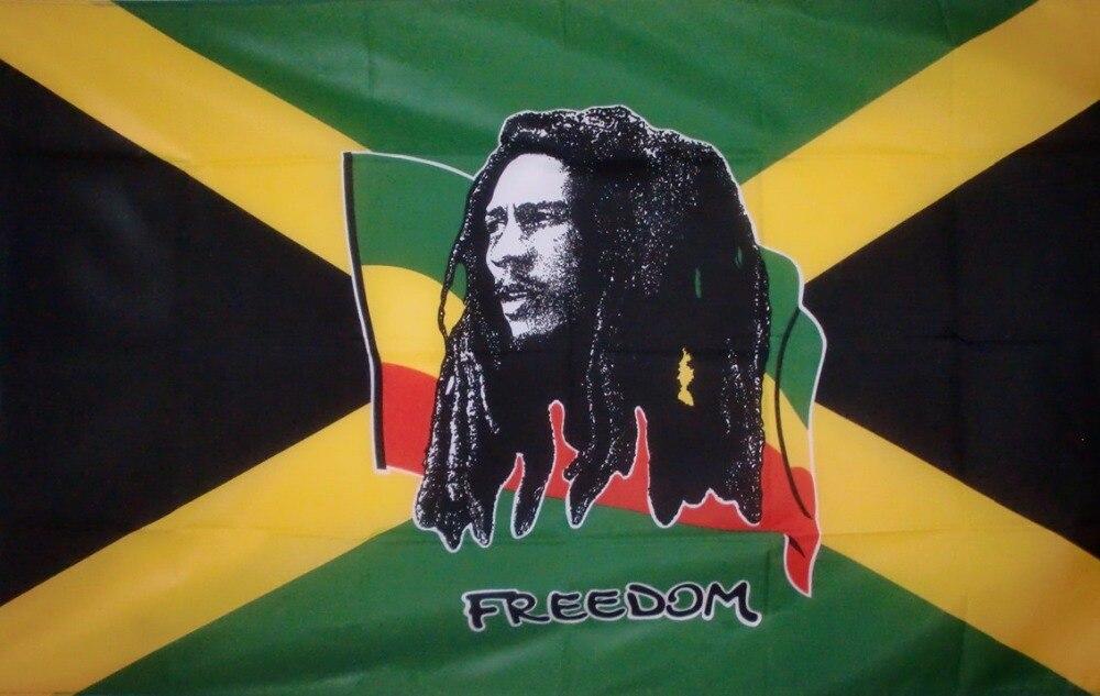 Флагшток 90*150 см Jamaica JAM. Jm Боб Марли флаг свободы