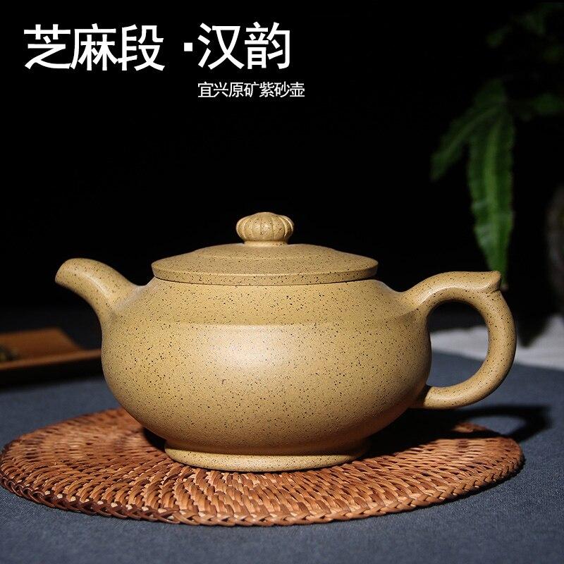 170 مللي Yixing الأرجواني الطين براد شاي اليد النقي اليدوية السمسم الطين Zisha إبريق الشاي المنزل الكونغ فو أسود الشاي هدية شحن مجاني