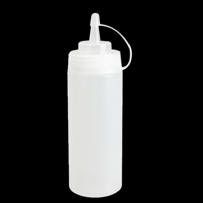 Dispensador de botellas de compresión de plástico para cocina, 8oz, para salsa, aceite vinagre, KetchupX1