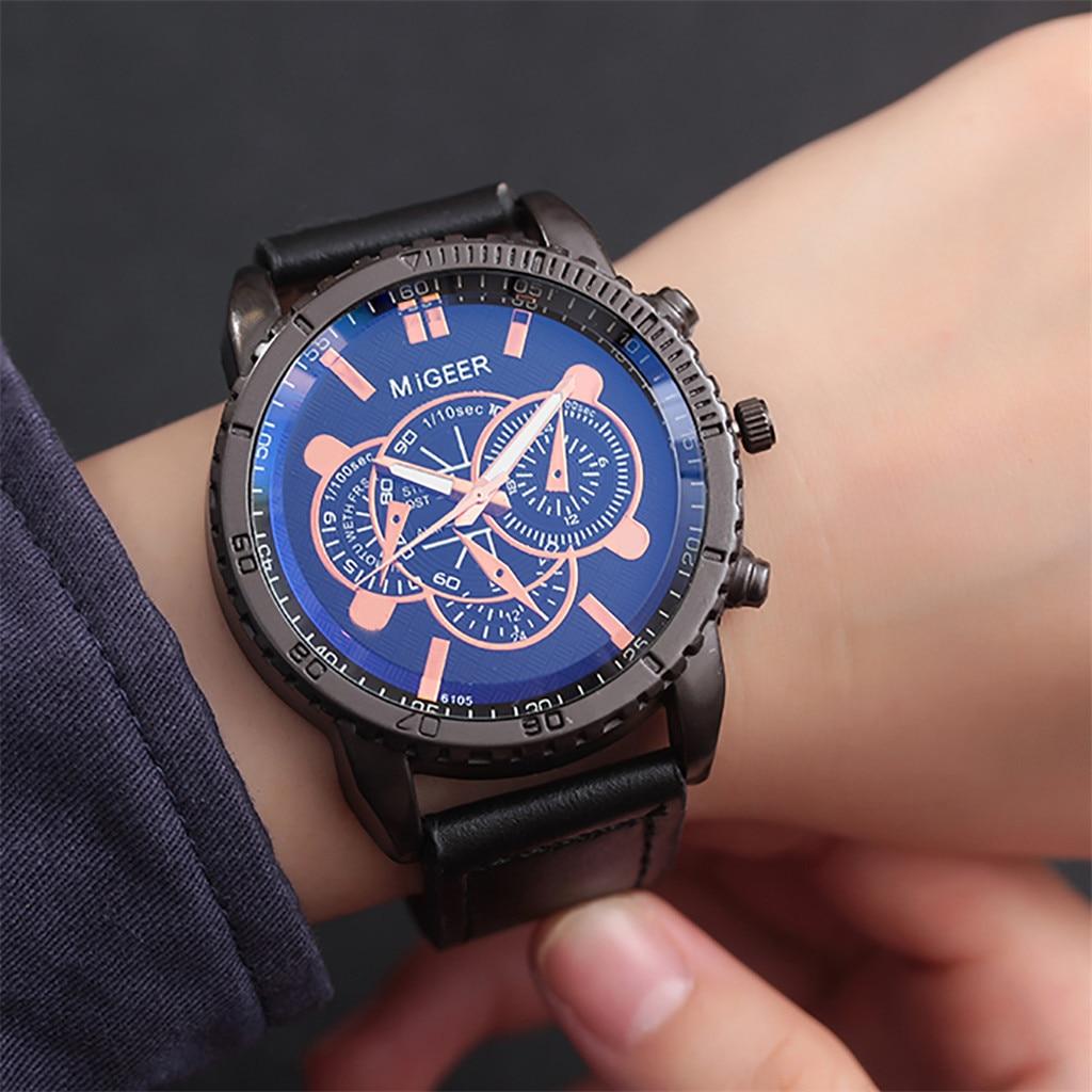 relogio masculino High-End New Geneva Men's Leather Strap Stainless Steel Quartz Analog Watch Reloj Hombre 2019 Hot Sales #10