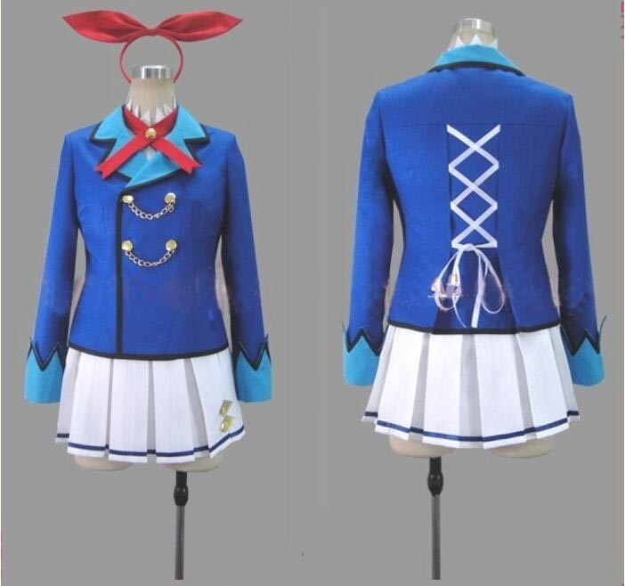 ¡Aikatsu,! Hoshimiya Ichigo Cosplay traje Kiriya Aoi uniforme escolar Cosplay de envío gratis