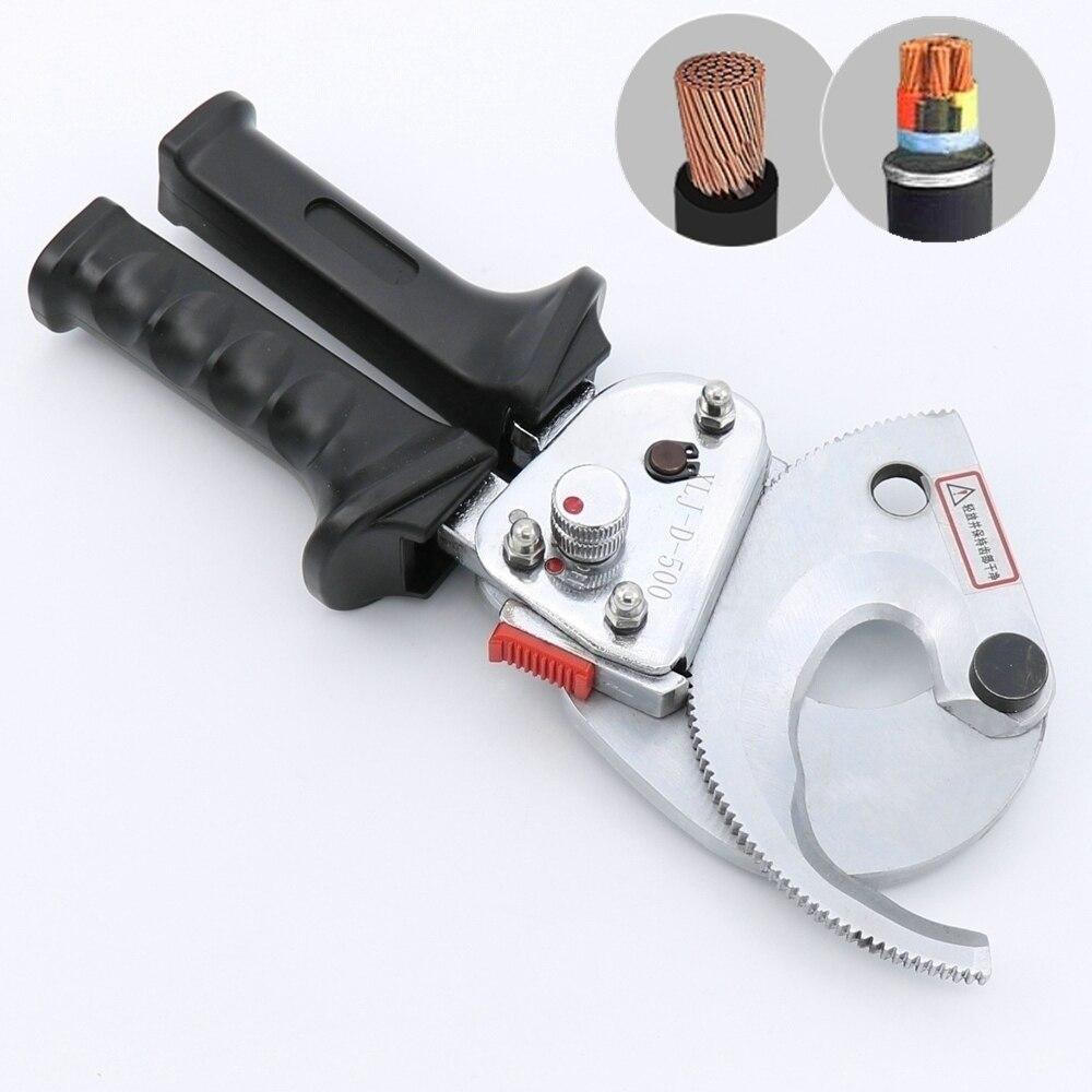 Cortador Cable trinquete robusto cortar a 500mm2 de trinquete de corte de alambre herramienta de mano