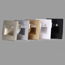 Cinq couleurs dintérieur PIR détecteur de mouvement LED étape lumière 1.5 w infrarouge corps humain Induction escalier applique murale pour Passage passerelle