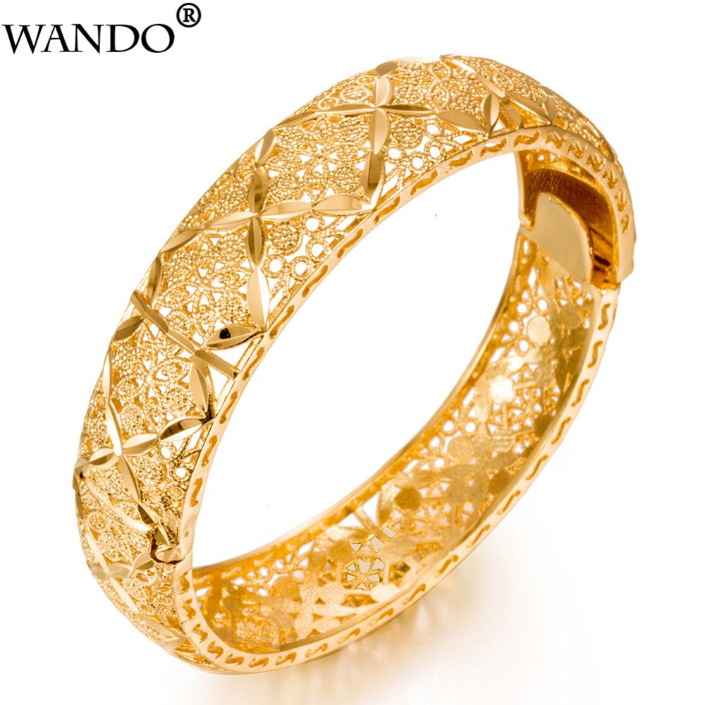 Женский браслет WANDO, золотистого цвета, 24 К, из арабских/арабских стран