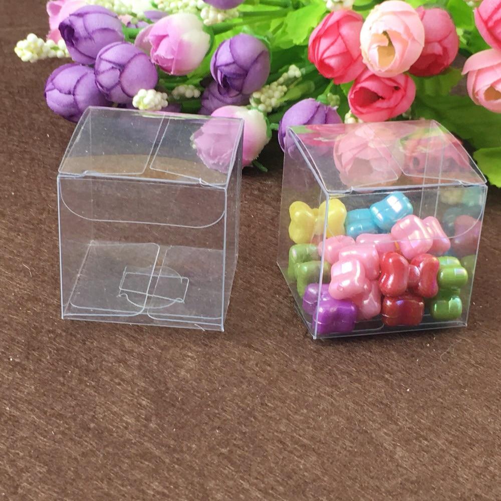 200 шт. квадратная пластмассовая коробка для хранения ПВХ прозрачные коробки для подарочных коробок для свадьбы/инструмента/еды/упаковки юв...