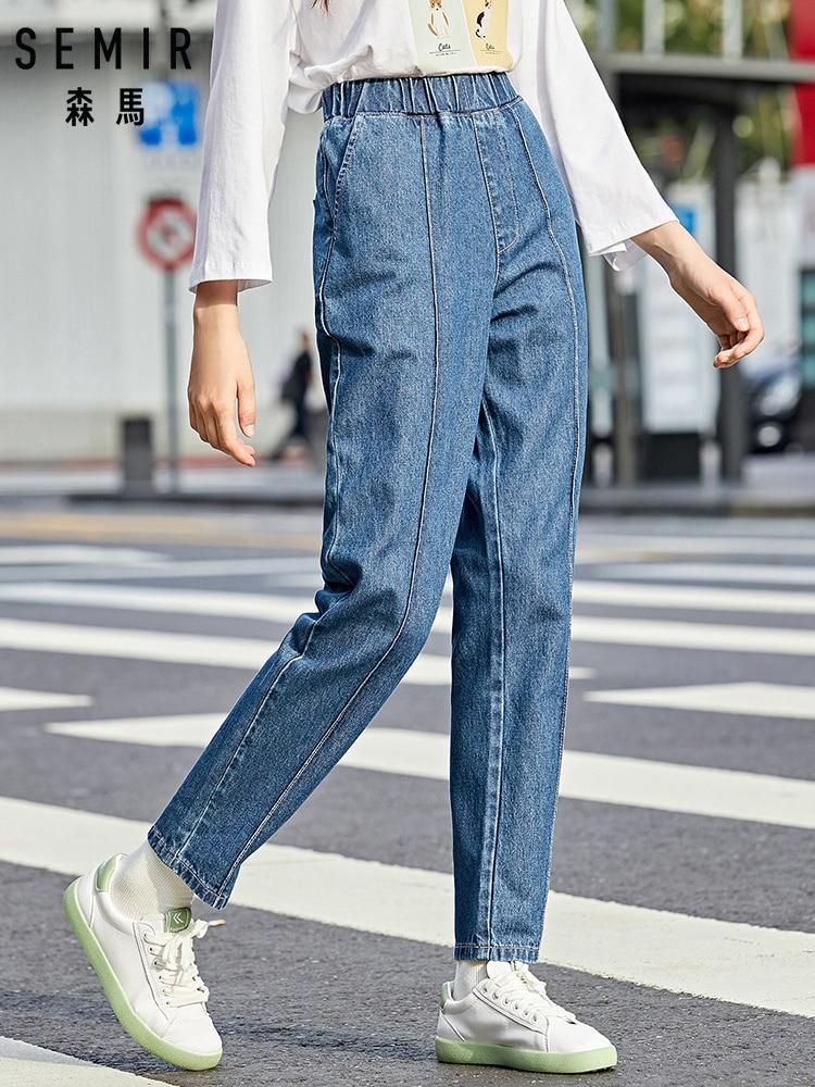 SEMIR Jeans women 2019 autumn new jogging trousers harem pants Korean ulzzang pants bf trend 100% cotton pants for woman