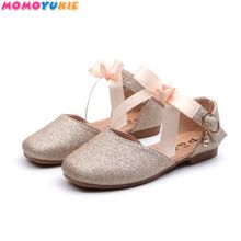 Baby Shoes 2019 Fashionable Ballet Flats Children's Shoes Bowknot lovely Bling-bling Princess Shoe F