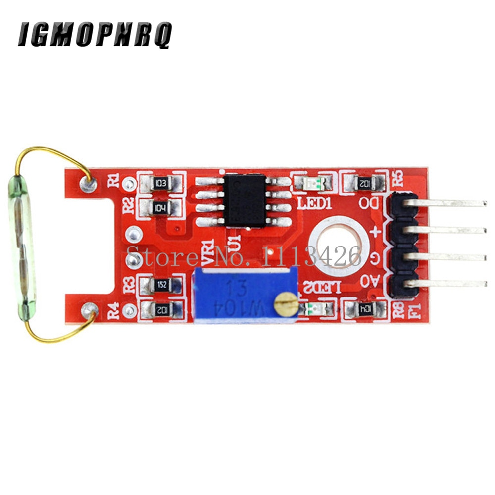 10pcs KY-025 4pin BETR Magnetic Dry Reed Pipe Switch Magnetron Sensor Module DIY KY-25
