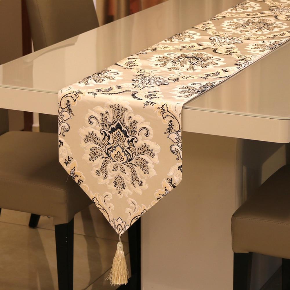 عداء طاولة من النايلون على الطراز الأوروبي الكلاسيكي للمنزل ، غطاء طاولة شاي عصري ، ثلاجة حديثة فاخرة ، خزانة ملابس مع العلم