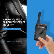 Nouveau Zastone 5 W Mini Radio Portable Talkie Walkie UHF 400-470 MHz 1500 mah Batterie CB Radio Deux way Radio Communicateur Zastone ZT68
