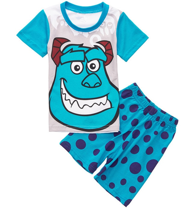 New one piece retail girls summer short sleeve cotton cartoon pajamas,kids pijamas,baby wears for 2-7 years SP03