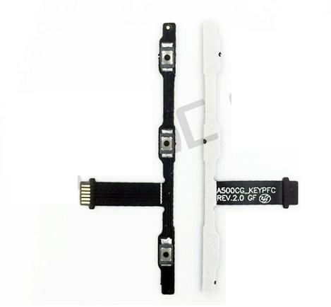 200 unids/lote para Asus Zenfone 5 a500cg a500kl A501CG t00j volumen lateral interruptor encendido apagado botón tecla Flex Cable envío gratis