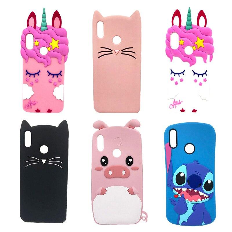 Fundas de teléfono de silicona para Huawei P 30 Lite, funda bonita con diseño de unicornio, gato, oso, dibujos animados, carcasa trasera para Huawei P30 Lite