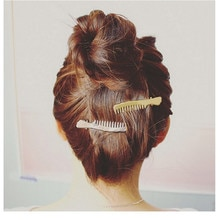 Folha de Metal moda Presilhas Grampo de Cabelo Hairpin Barrette Cabelo Garras Mulheres Meninas Tendência Charme Pente