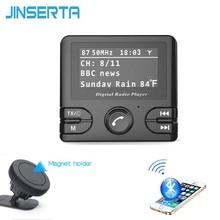 JINSERTA Digital DAB Radio Receiver TF Card DAB+ with FM Transmitter Function USB Charger Bluetooth Handsfree 3.5mm AUX Play