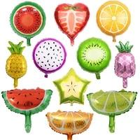1pcs 18inch fruit foil helium balloon watermelon kiwi pineapple strawberry orange summer party decoration supplies kids toy