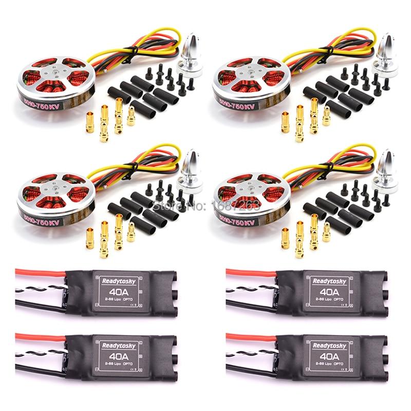 4Pcs 5010 360KV / 750kv High Torque Brushless Motors + 4Pcs Readytosky 40A ESC OPTO 2-6S ESC For ZD550 Z680