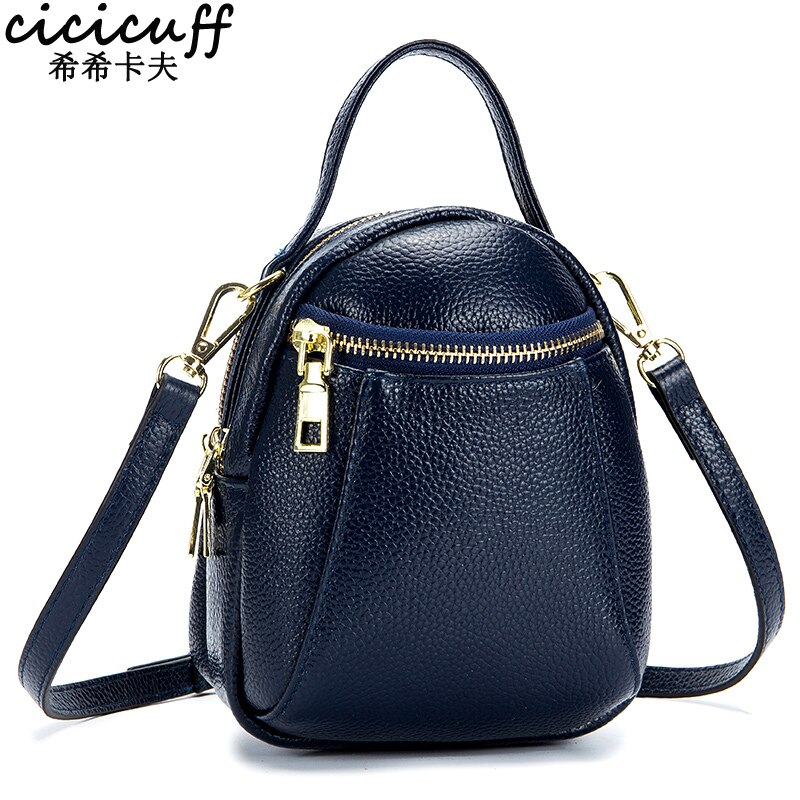 CICICUFF 100% Real Leather Lady's Messenger Bags 2020 New Large Capacity Shoulder Bags Mobile Phone Bag for Women Bucket Bag