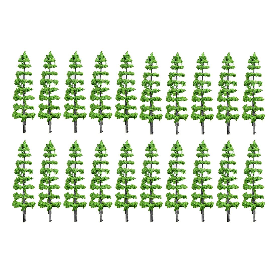 20 piezas 6,9/9,2 cm HO 1 85 escala gran tamaño Redwood modelo árbol ferrocarril arquitectura Diorama árbol para DIY paisaje