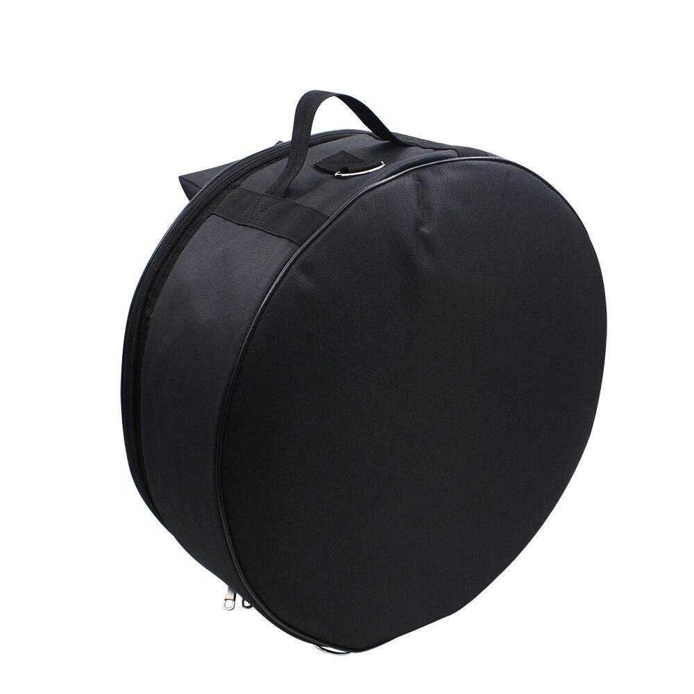 Durable 14 pulgadas Snare tambor mochila con correa de hombro bolsillos exteriores