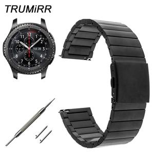 22mm Quick Release Stainless Steel Watch Band for Samsung Gear S3 Classic / Frontier Garmin Fenix Chronos Wrist Strap Bracelet