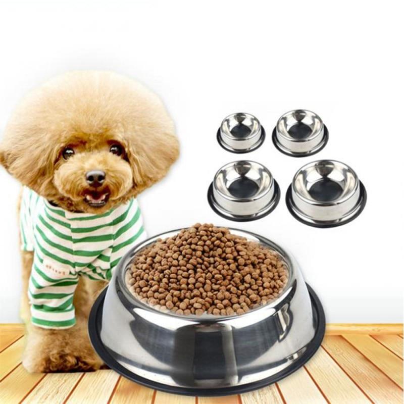 Bol Double en acier inoxydable pour chiens   Peinture pour chat, chiot chats nourriture, distributeur deau fournitures danimaux, plats dalimentation antidérapants