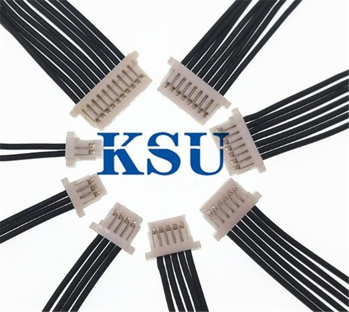 50X SH1.0mm SH1.0 1,0 conector hembra Cable electrónico PVC Cable de Terminal 10/15/30cm Línea 2p 3p 4p 6p 8p 9p 10p de doble cabeza A--B