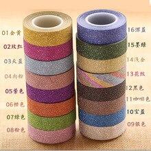 Paillettes Washi ruban papier auto-adhésif bâton sur artisanat collant décoratif bricolage maison jardin étiquette artisanat décoratif 22 couleurs JD25