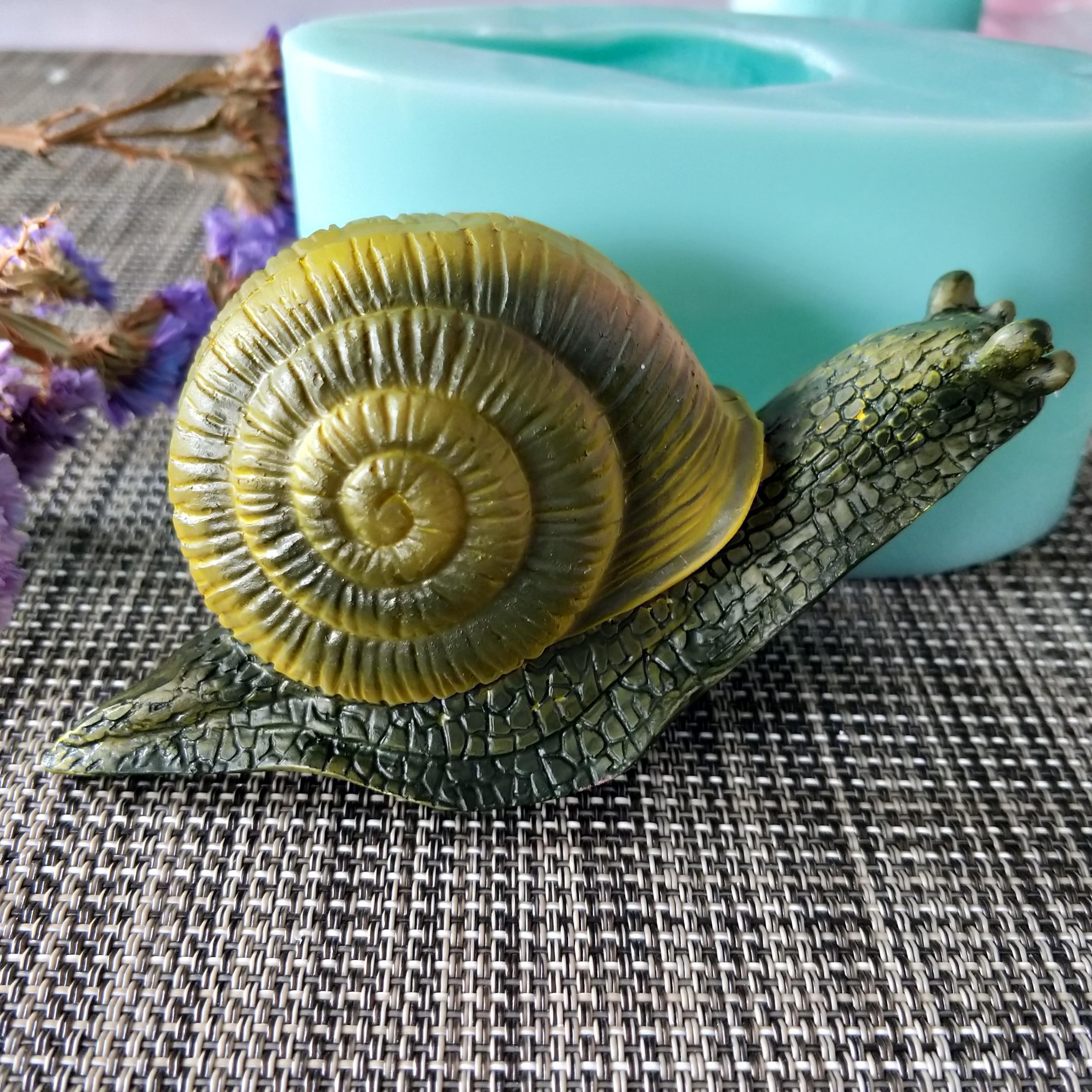 Molde de silicona DW0141 PRZY, molde de jabón en 3D con animales, caracoles, fabricación artesanal de jabón, moldes de vela de silicona, molde de arcilla de resina