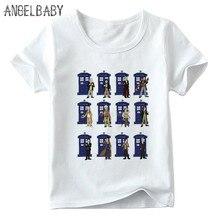 Erkek/kız Dr. Kim Daleks Exterminate zafer baskı T-shirt çocuk yaz kısa kollu bebek çocuk komik T shirt,ooo4115