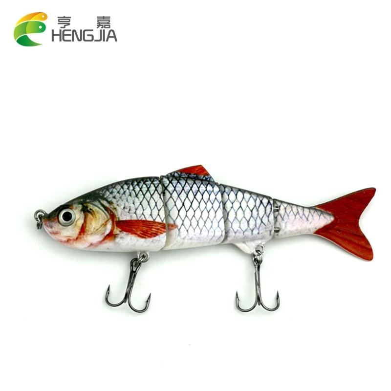 HENGJIA 1PC 16,8g 4 articulado las secciones de pesca señuelo minnow pesca wobble realista nadar cebo artificial ISCA manivela pesca