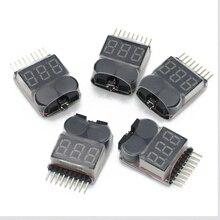 5/10/20/50/100 pièces Lipo testeur de tension de batterie volt mètre moniteur buzzer alarme 1-8s3.7V-22.2V