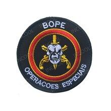 Patch de broderie BOPE brésilien   Patchs décoratifs, moral militaire tactique National brésilien de Combat, Badges brodés, livraison directe