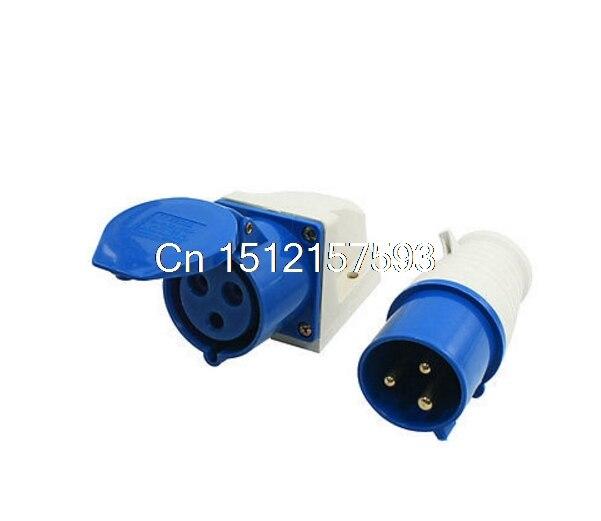 IEC309-2 32Amp 3 Pin Plug + acoplador monofásico enchufe industrial resistente al agua
