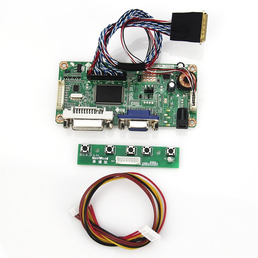 Para lp173wf1 (tl) (b3) b173hw02 v.0 (vga + dvi) m. r261 m. rt2281 lcd/led controlador placa lvds monitor reutilização portátil 1920x1080