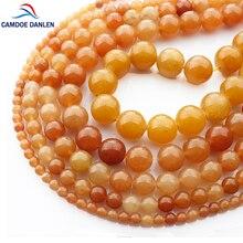 Perles rondes en pierre naturelle Aventurine rouge pour la fabrication de bijoux, 15 pouces, 4mm, 6mm, 8mm, 10mm