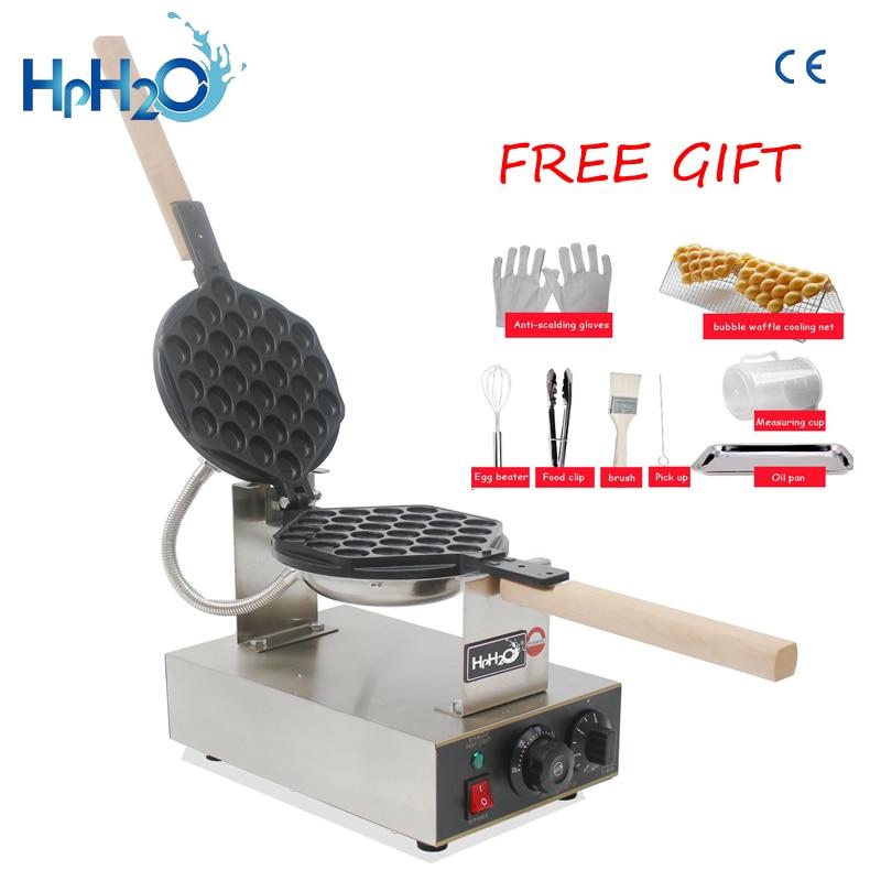 Commercial Electric 110V 220V egg bubble waffle maker machine hong kong eggettes waffle iron cake oven недорого