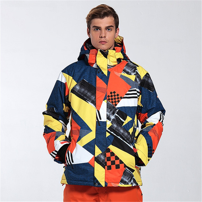 GSOU, chaquetas de esquí para hombre, chaqueta de esquí a prueba de viento, estilo coreano, transpirable para mantener el calor, placa doble, muchos colores, chaqueta de esquí para hombre