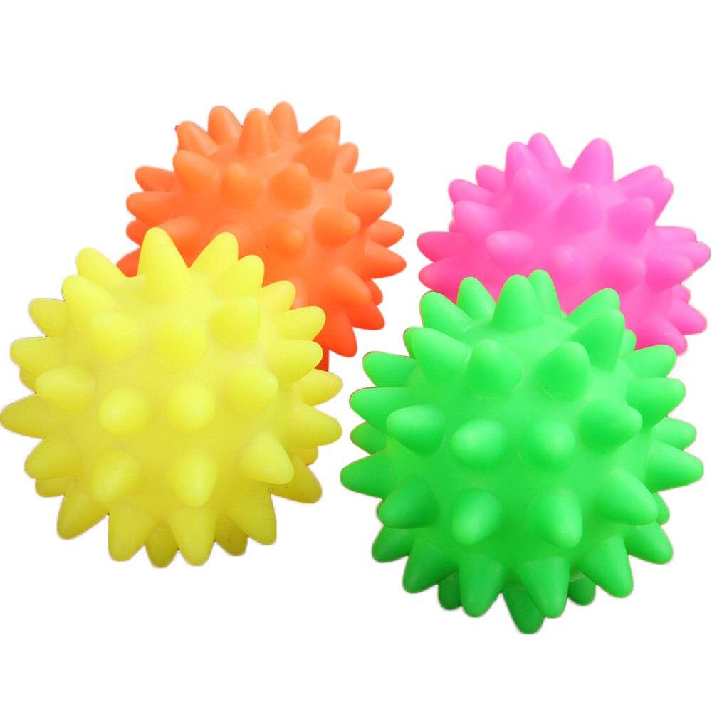 1 шт. резиновый шарик для ежа, Интерактивная игрушка для собак, домашних животных, кошек, жевательный мячик, пищащий, эластичный, 6,5 см, игрушк...