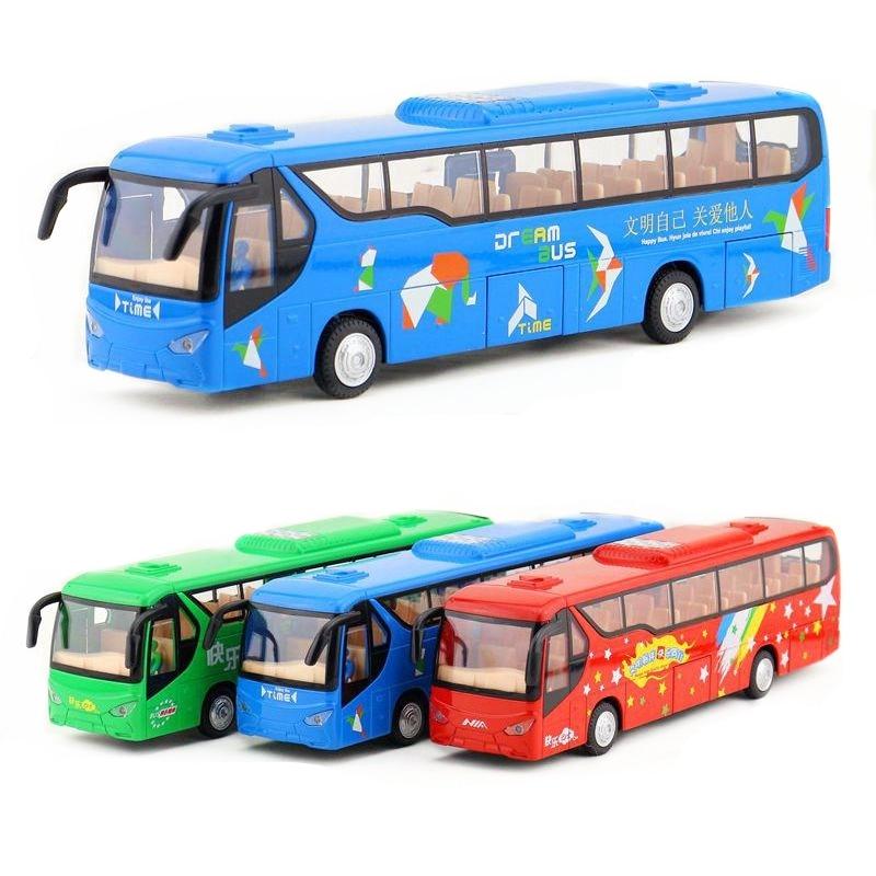 Jouet en métal moulé sous pression/voiture éducative son et lumière/échelle 132/KIA City tourisme luxe grand Bus/cadeau/Collection/enfant