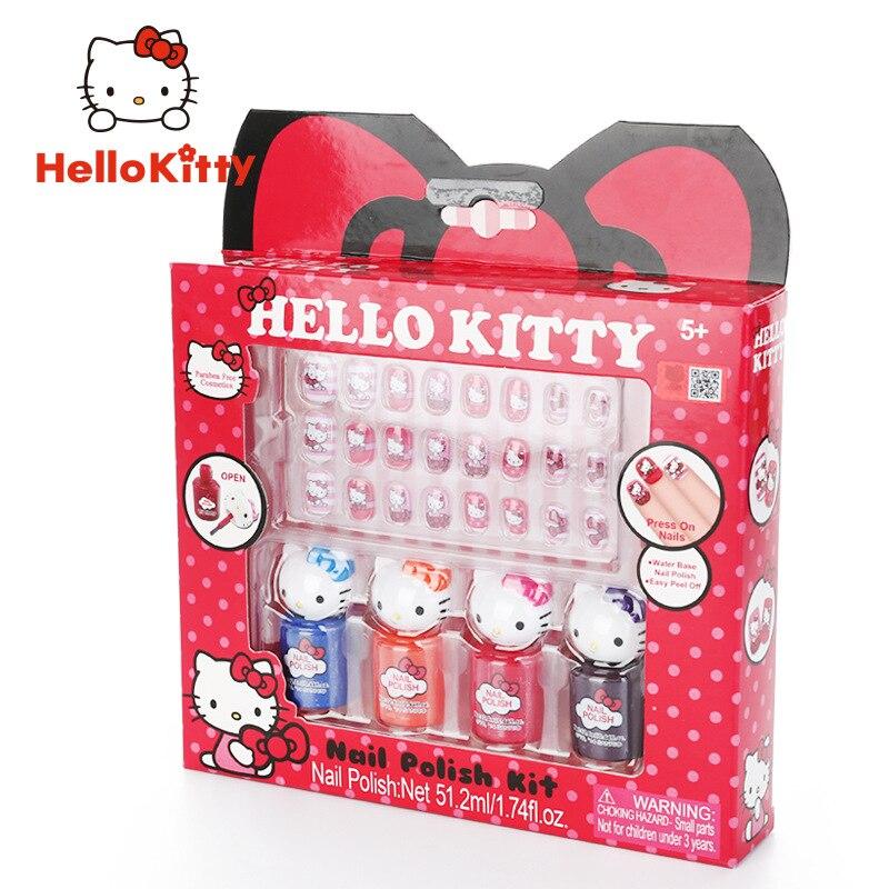 Esmalte de uñas Hello kitty para niños no tóxico e insípido juguete cosmético para niñas soluble en agua