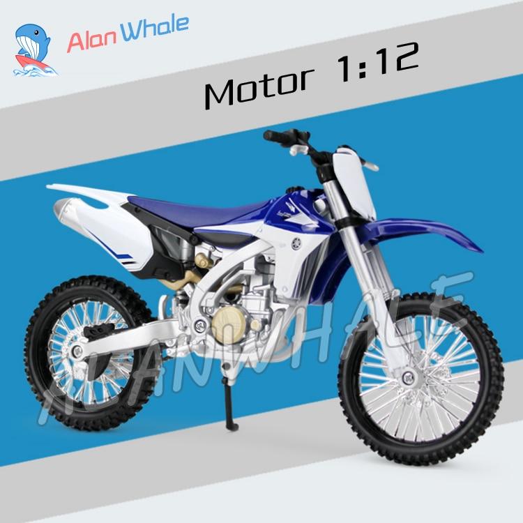 Nueva motocicleta Yamaha YZ450F de Metal a escala 112, modelo de motocicleta, coches de carreras, juguetes para niños, vehículo, Colección Moto GP