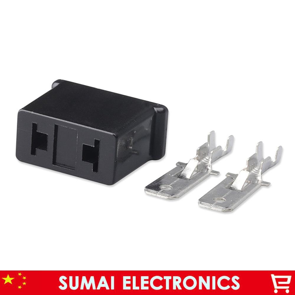 Conector de coche H7-2A de 2 pines de 6,3mm, tapón de soporte para lámpara automática 2 P/enchufe para lámpara de 6,3mm para coche Audi VW, etc.