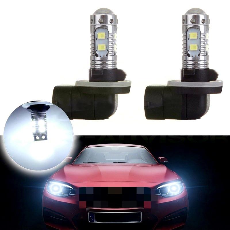 Luz LED antiniebla para coche de 50W, 1 par, 881, 862, 886, 889, 894, 896, 898, CC de 12V a 24V, faro LED delantero de coche