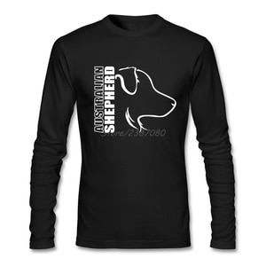 AUSTRALIAN SHEPHERD T Shirt Long Sleeve Custom Mens T Shirts Fashion 2019 2019 New Kpop Cotton T Shirts