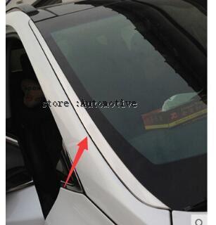 Cubierta de ventana lateral frontal de acero inoxidable ajuste 2 uds 2013 2014 2015 2016 para HYUNDAI SANTA FE SPORT IX45